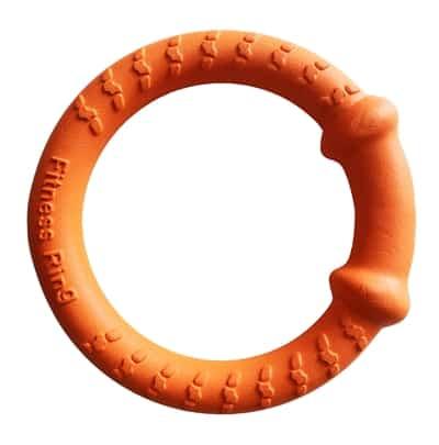 Happy pet tough toys hoop tugger oranje