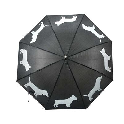 Paraplu honden reflecterend / zwart (85 CM)