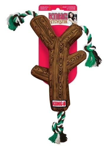 Kong fetchstix met touw (45X18X5,5 CM)