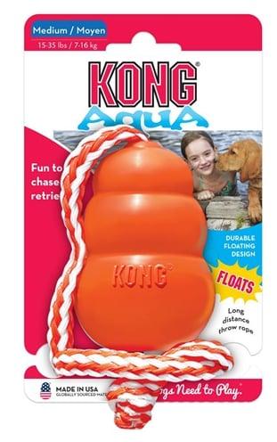 Kong aqua oranje (5,5X5,5X9 CM)
