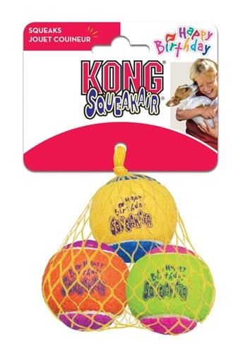 Kong squeakair birthday balls (6,5 CM 3 ST)