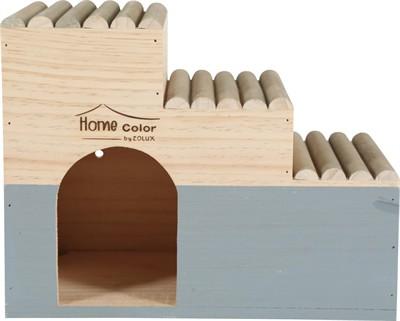 Zolux knaagdierhuis home color trap grijs (30X18X23,5 CM)