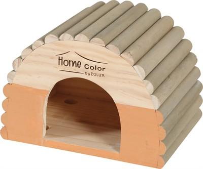 Zolux knaagdierhuis home color iglo oranje (30X18X23,5 CM)