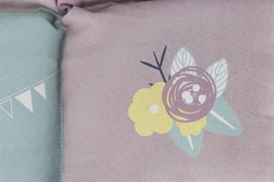 Trixie hondenmat junior patchwork lila / mintgroen / roze (60X60 CM)