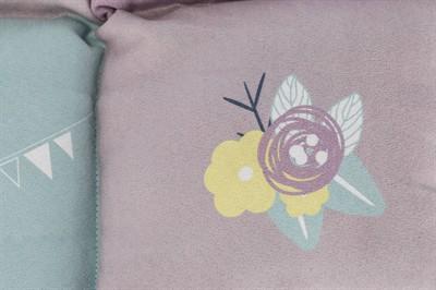 Trixie hondenmat junior patchwork lila / mintgroen / roze