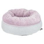 Trixie junior hondenmand donut lichtgrijs / lila (40X40 CM)