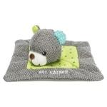 Trixie junior knuffeldoek beer met kattenkruid / catnip (13X13 CM)