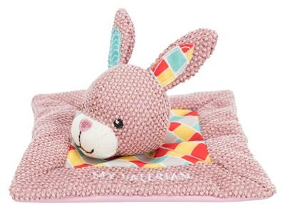 Trixie junior knuffeldoek konijn met valeriaan