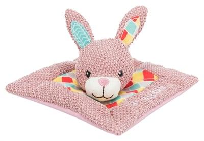Trixie junior knuffeldoek konijn met valeriaan (13X13 CM)