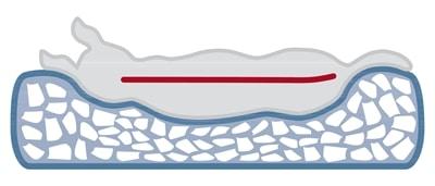 Trixie hondenkussen pulito vitaal ovaal grijs (80X55 CM)