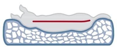 Trixie hondenkussen pulito vitaal ovaal grijs (100X70 CM)