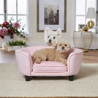 Enchanted hondenmand / sofa coco roze