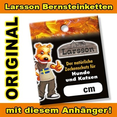 Larsson farm halsband hond barnsteen amber ketting (55 CM)