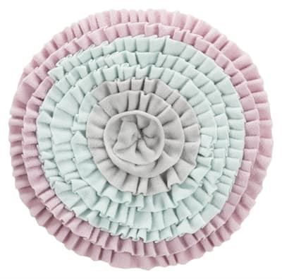 Trixie junior snuffelmat zacht roze / mintgroen / grijs (38X38 CM)