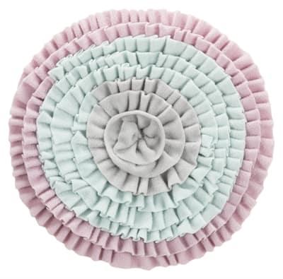 Trixie junior snuffelmat zacht roze / mintgroen / grijs