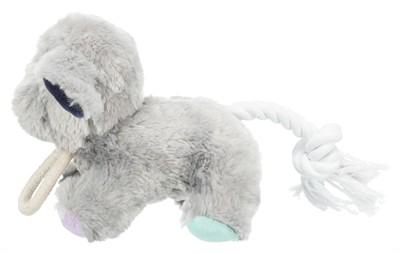 Trixie junior pluche hond met touw