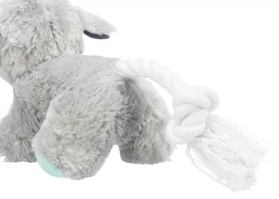 Trixie junior pluche hond met touw (24 CM)
