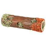 Trixie tunnelbuis met hooi en hibiscusbloesem / wortel / erwt (20X6,5X6,5 CM 25 GR)