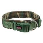 Trixie halsband hond premium neopreen camouflage groen (56-62X2,5 CM)