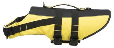 Trixie zwemvest geel / zwart (50-80X55 CM)