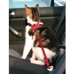 Trixie kattentuig voor in de auto rood (20-50X1,5 CM)