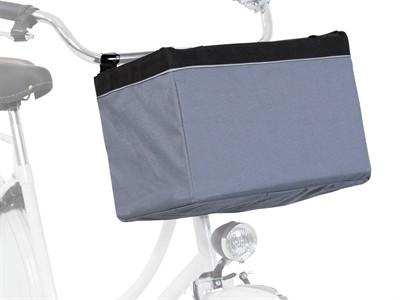 Trixie fietsmand voor aan stuur nylon grijs (38X25X25 CM)