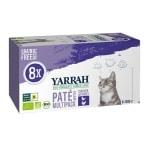 Yarrah cat alu pate multipack chicken / turkey (8X100 GR)