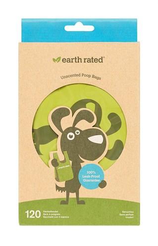 Earth rated poepzakjes met handvaten geurloos (120 ST)