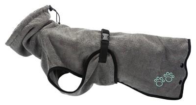 Trixie badjas hond badstof grijs (30 CM)
