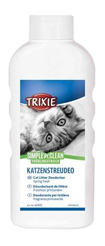 Trixie simple'n'nclean geurverdrijver kattenbak lentefris (750 GR)
