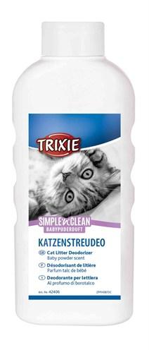 Trixie simple'n'nclean geurverdrijver kattenbak babypoedergeur (750 GR)
