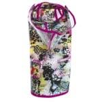 Croci regenjas jaguar print roze naad (45 CM)