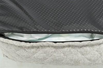 Trixie hondenkussen noah vitaal schuimrubber lichtgrijs (60X50X15 CM)