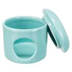 Trixie speelhuis muizen met deksel keramiek turquoise (12X12X10 CM)