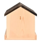 Voederhuis voor aan de muur hout (22X15X23 CM)