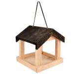 Voederhuis hangend hout (21,5X22X23 CM)