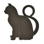 Deurwig kat plastic (11X9,5X2,5 CM)
