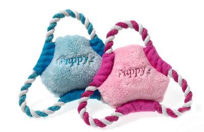 Karlie puppy frisbee roze of lichtblauw (17 CM)