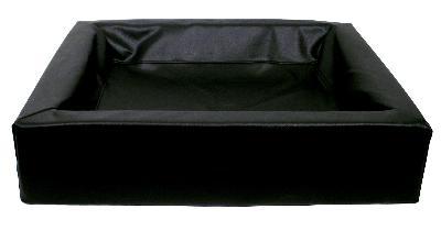 Bia bed kunstleer hoes hondenmand zwart (BIA-70 85X70X15 CM)
