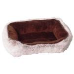 Divan hamster bed pluche bruin (30X20X8CM)