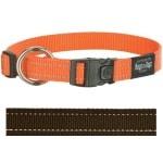 Rogz for dogs fanbelt halsband choco (20 MMX34-56 CM)