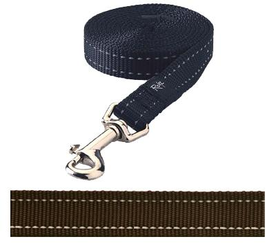Rogz for dogs snake lijn choco (16 MMX1,4 MTR)