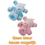 Harige hond roze/blauw (35 CM)