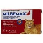 Milbemax tablet ontworming  kat (LARGE 2X2 TABL)