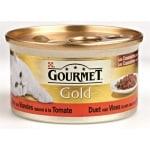 Gourmet gold cassolettes duet van vlees in saus met tomaten (24X85 GR)