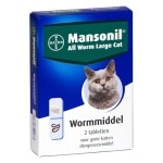 Mansonil grote kat all worm tabletten (2 ST)