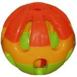 Plastic knaagdierbal+bel (7,5 CM)