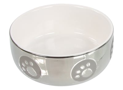 Katteneetbak royal zilver/wit (11 CM)