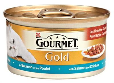 Gourmet gold fijne hapjes zalm / kip (24X85 GR)