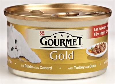 Gourmet gold fijne hapjes kalkoen / eend (24X85 GR)